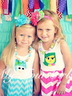 Inside Out Dress Joy Dress Inside Out Birthday by MyFourGirlsGifts