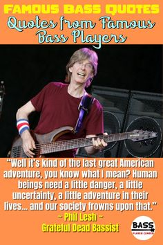 Here's an inspirational quote from Grateful Dead bassist Phil Lesh #GratefulDead #PhilLesh #BassGuitarQuotes #FamousQuotes #InspirationalQuotes Bass Guitar Scales, Play Guitar Chords, Learn Bass Guitar, Bass Guitar Lessons, Guitar Lessons For Beginners, Guitar Songs, Guitar Quotes, Music Quotes, Teach Yourself Guitar
