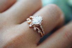 Dream Engagement Rings, Vintage Engagement Rings, Vintage Rings, Wedding Engagement, Solitaire Engagement, Vintage Style, Ring Set, Ring Verlobung, Aquamarine Wedding