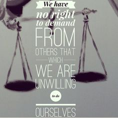 #DailyDevo   Mark 11:27-33   We enjoy putting other people on trial, but don't want to be put on the stand ourselves. The religious leaders were quite critical of Jesus, but he turned the tables on them. Next time we are tempted to exercise judgement or level criticism on another, it is important for us to consider how we might feel if the tables were turned on us.  We have no right to demand from others that which we are unwilling to do ourselves.