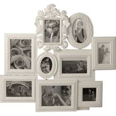 Living 9 Print Collage Photo Frame - White.