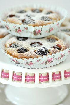 Blackberry frangipane tarts by toriejayne