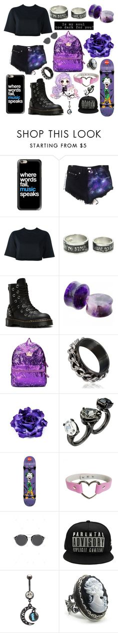 """""""What evs"""" by punk101love ❤ liked on Polyvore featuring Casetify, NIKE, Disney, Dr. Martens and Oscar de la Renta"""