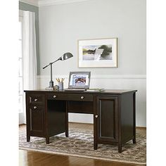 Canopy Cornerstone Collection Home Office Desk, Mahogany