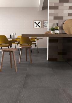 Oltre 1000 idee su cucina con pavimento in piastrelle su - Piastrelle effetto cemento ...