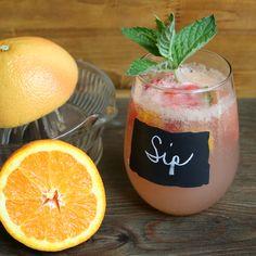 GREAT for parties!!  Grapefruit lemonade mocktail