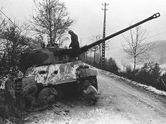 Tiger II with white flag December 1944