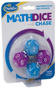 ThinkFun Math Dice Chase - The Fun Game of Mathematical Hot Potato, Invented by a Math Teacher Logic Games, Math Games, Brain Games, Problem Solving Skills, Math Skills, Math For Kids, Fun Math, Math Teacher, Math Classroom