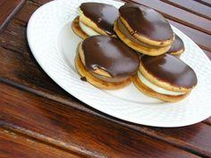 Με το δάχτυλο στο βάζο: Κωκάκια Pudding, Sweets, Cookies, Chocolate, Breakfast, Desserts, Food, Greek, Mini