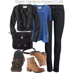 The Vampire Diaries - Stefan Salvatore Inspired Outfit