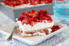 Recipe: No Bake Strawberry Cheesecake Lasagna