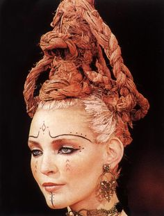John Galliano for Givenchy 1996 - Tribal makeup