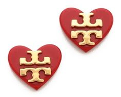 Cute Heart Tory Burch Earrings http://rstyle.me/n/e3ynar9te