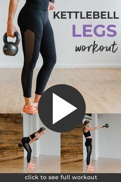 Burn out your lower body and tone your abs with this 30-minute KETTLEBELL WORKOUT! This at home strength training workout is designed to build lean muscle and burn 400+ calories in just 30 minutes. Six of the best kettlebell leg exercises to build strength in the legs and butt while also toning the abs and core. This is a kettlebell AMRAP workout which means you determine how many calories you burn based on the number of rounds you complete! Kettlebell Workout Video, Amrap Workout, Leg And Glute Workout, Leg Workout At Home, Workout Challenge, Workout Videos, At Home Workouts, Quick Workouts, Treadmill Workouts