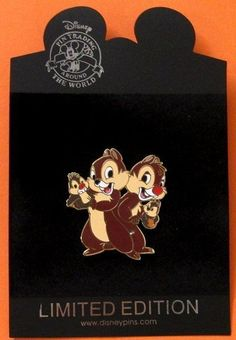 Disney Pin DS Puppet Series - Chip and Dale  LE 250
