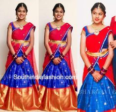 Roja Daughter Anshu in Bhargavi Kunam Half Saree