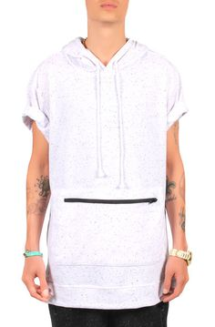 Seize&Desist The Stash Short Sleeve HoodieWhite