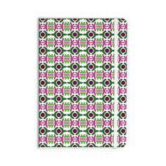 "Empire Ruhl ""Island Dreaming Abstract"" Pink Green Everything Notebook"