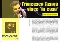 """ORCHESTRA E VOCE TOUR 2010 con FRANCESCO RENGA -    Vedere Francesco Renga dal vivo - e a Brescia - la sua città """"adottiva"""", è un'indescrivibile emozione. Teatro pieno oltre ogni misura e pubblico letteralmente in delirio a cantare le canzoni del suo album """"Orchestra e Voce"""". Che serata indimenticabile!  Ecco cosa è successo nelle due ore di concerto: http://luanasavastano.blogspot.it/2010/06/francesco-renga-vince-in-casa.html"""