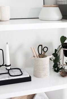 DIY Small Rope Basket- Homey Oh My