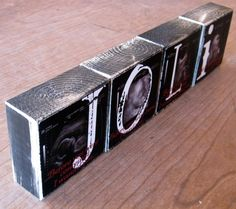 Ultrasound pictures on wood blocks with babies name. Want to make something like this...