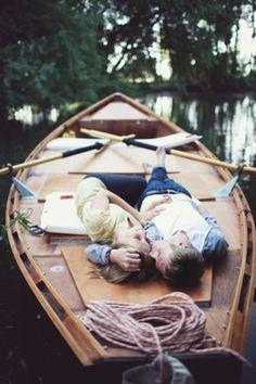 canoe snuggling