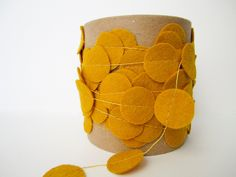 Felt Garland - Yellow/Mustard.