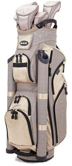 Check out our new Khaki Geo Print Naples Bay if you need a very organized golf bag! #golf #golfbags #lorisgolfshoppe