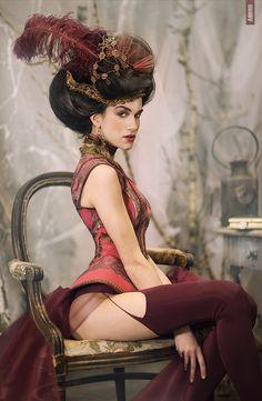 Miss Ankhen   stickings, chair, room, panties