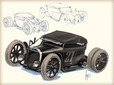 Non-commercial design and illustration by John Frye, via Behance