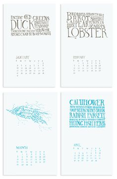 Seasonal Food Calendar by Joel Richardson, via Behance