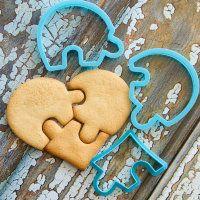 """Cookie cutter set """"Heart puzzle"""" 3 pcs"""