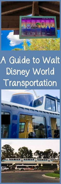 A Guide to Walt Disney World Transportation, including buses, boats, Minnie Vans, and monorails.#ad #disney #familytravel #waltdisneyworld