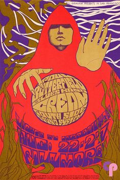 Paul Butterfield Blues Band, Cream, South Side Sound System - Bill Graham Presents in San Francisco - August - Fillmore Rock Posters, Band Posters, Vintage Concert Posters, Vintage Posters, Laurent Durieux, Psychedelic Music, Psychedelic Posters, Hippie Posters, Concert Rock