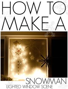 How to make a snowman lighted window scene! Plus his face is easy changeable!