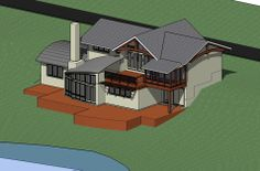 Timber Frame Timber Frame Computer Renderings | New Energy Works