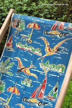 Vintage Home Shop - Here Comes Summer! Super 1950s Seaside Deckchair:  www.vintage-home.co.uk