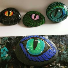 Dragon eye, painted rocks