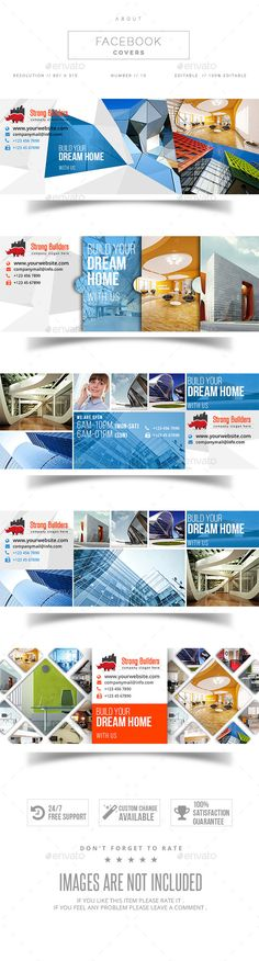 Real Estate Facebook Cover — Photoshop PSD #modern cover #new timeline • Available here → https://graphicriver.net/item/real-estate-facebook-cover/11300619?ref=pxcr