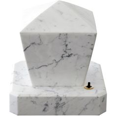 Camp Design Gallery Adaptations Marble Lamp by Veronica Todisco ($1,750) ❤ liked on Polyvore featuring home, lighting, table lamps, white, white marble lamp, white lamp, marble light, marble table lamp and handmade lamps