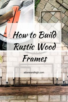 I am sharing two ways to create rustic wood frames, or barn wood frames, for your home decor projects. You wouldn't believe how easy it is to make these rustic frames! Check it out! Barn Wood Decor, Barn Wood Crafts, Barn Wood Projects, Diy Projects, Modern Farmhouse Style, Rustic Farmhouse, Rustic Wood, Rustic Frames, Wood Frames