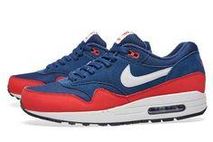 online retailer 702d9 7fbce Nike Air Max 1 - Midnight Navy - University Red - Light Bone -  SneakerNews.com