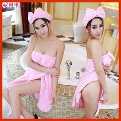 Imprimibles 2016 Hot Strapless Serviette De Plage Imprime Sexy Pink Bow Wrapped Chest Sexy Sleepwear Split Bath Towel Variety