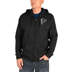 Atlanta Falcons Majestic Realm of Champions Full-Zip Hoodie - Black