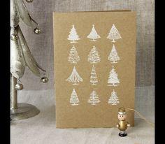 Kartki świąteczne Boże Narodzenie ZESTAW 6 SZTUK - LetterpressForYou - Kartki świąteczne