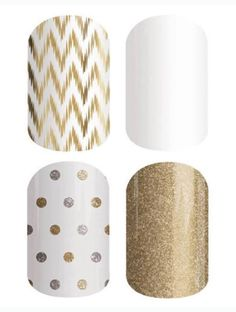 Buy 3 Get 1 Free Mix & Match Idea: Edgy, Whiteout, Icy Gold & Silver Polka, Gold Sparkle