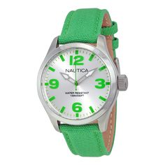 Nautica Silver Dial Green Silicone Mens Watch A11629M. http://www.watchvendor.ca/nt-a11629m.html