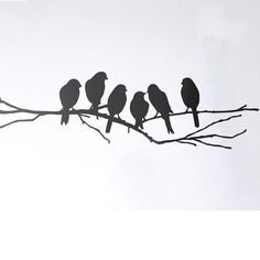 bird on a wire silhouette - Google Search