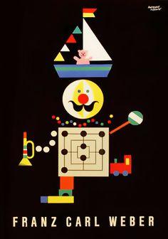 Franz Carl Weber toy catalog, 1958. Herbert Leupin