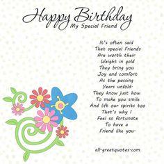Happy Birthday to a Special Friend   HAPPY BIRTHDAY IMAGES FOR A SPECIAL FRIEND BIRTHDAY